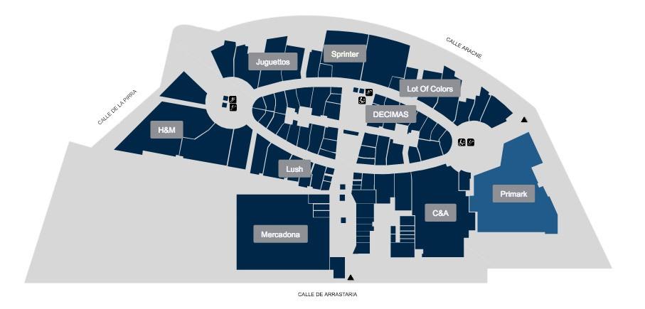 mapa situacion primark - Primark Madrid