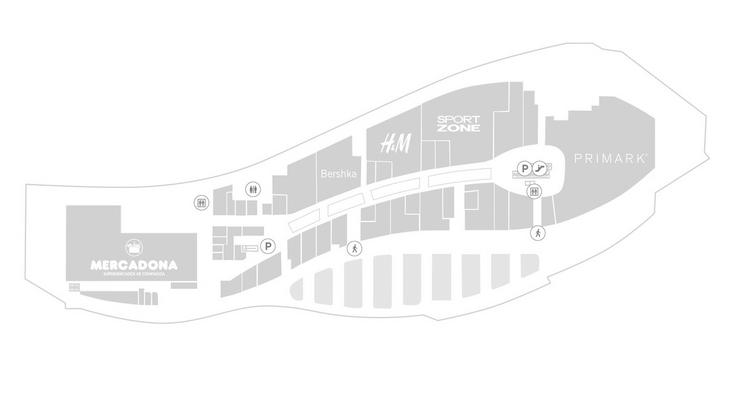 plano puerta europa - Primark Cadiz