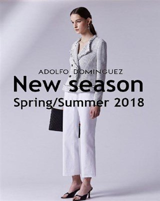 Catálogo Adolfo Dominguez primavera verano mujer 2018