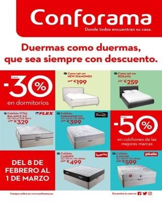 Catálogo Conforama Especial Dormitorios y Colchones