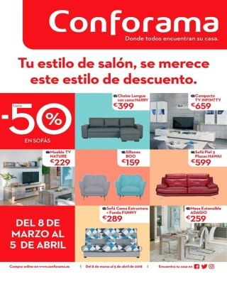 Cat logo conforama ofertas conforama abril - Catalogo conforama madrid ...