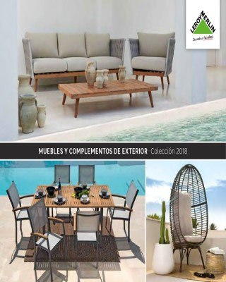 Catalogo Leroy Merlin muebles y complementos del exterior