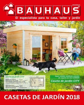 Catalogo Bauhaus casetas de jardin 2018