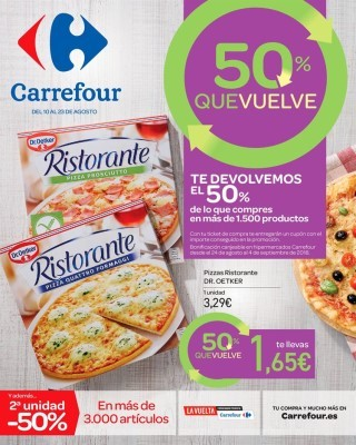 Catalogo Carrefour te devolvemos el 50 porciento