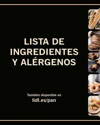 Catalogo Lidl listado de ingredientes y alergenos
