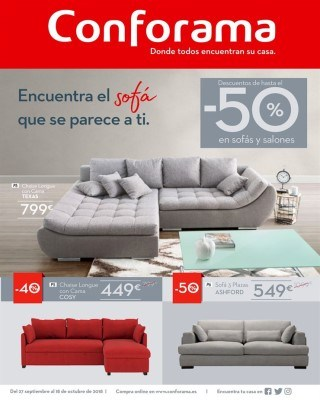 Conforama cat logo online ofertas conforama for Sofas conforama catalogo