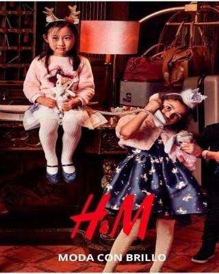 Catalogo H&M moda con brillo de niños