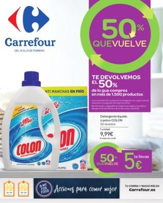 Catalogo Carrefour 50 porciento que vuelve