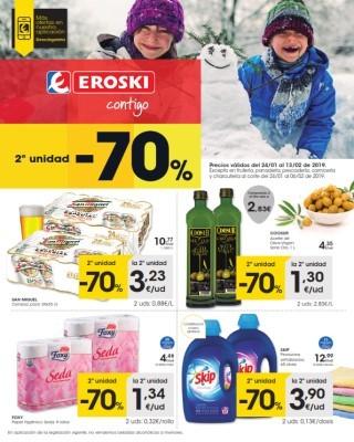 Catalogo Eroski unidad al 70 porcierto de descuento