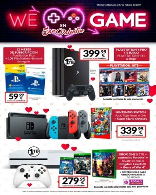 Catalogo Game enamorate