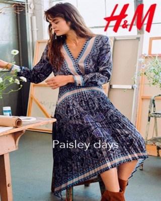 Catalogo H&M dias paisley