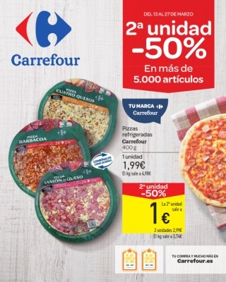 Catalogo Carrefour descuento del 50 porciento en articulos