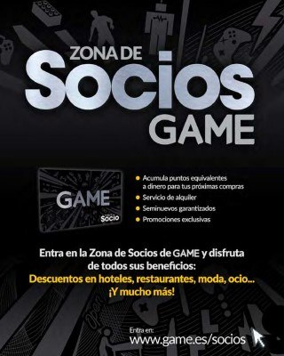 Catalogo Game zona de socios