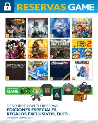 Catalogo Game reservas