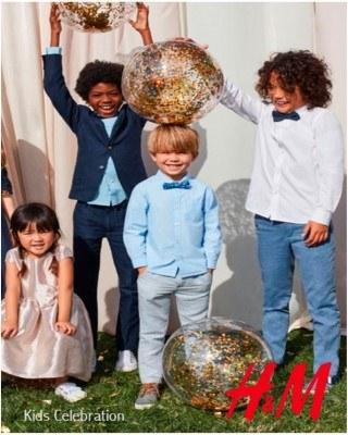 Catalogo H&M celebracion de niños