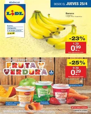 Catalogo Lidl el unico yogur que combina fruta y verdura