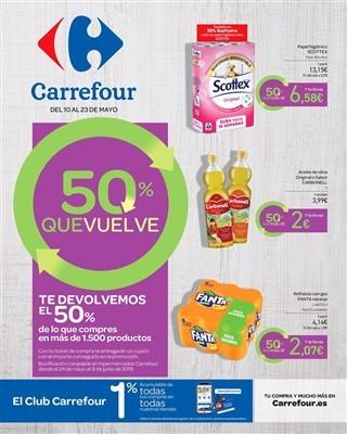 Catalogo Carrefour te devolvemos el 50 de lo que compres