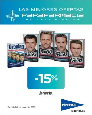 Catalogo Hipercor 15 porciento en productos just for men