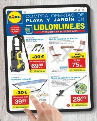 Catalogo Lidl compra ofertas de playa y jardin