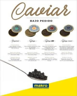 Catalogo Makro caviar bajo pedido