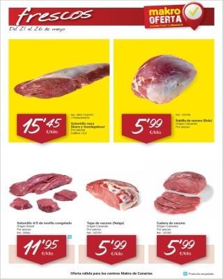 Catalogo Makro frescos de carne
