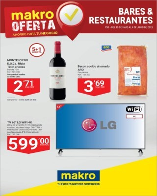 Catalogo Makro oferta para bares y restaurantes