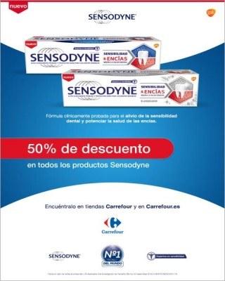 Catalogo Carrefour 50 porciento de descuento en productos sensodyne