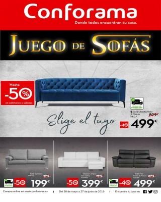 Catalogo Conforama descuentos hasta un 50 porciento en sofas