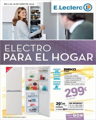 Catalogo E Leclerc electro para el hogar