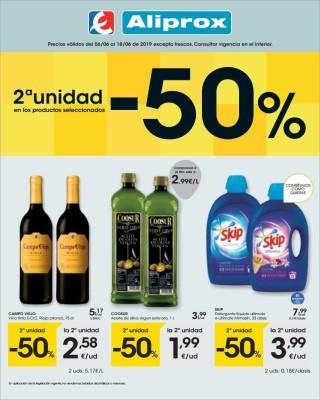 Catalogo Eroski productos seleccionados con un descuento de 50 porciento