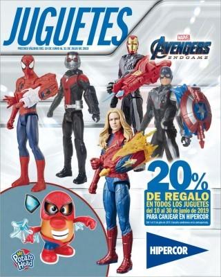 Catalogo Hipercor juguettes avengers end game