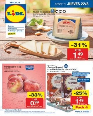 Catalogo Lidl cuña de queso semicurado mezcla