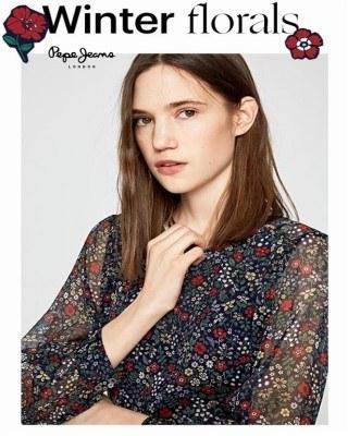 Catalogo Pepe Jeans florales de invierno