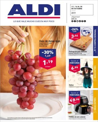 Catalogo Aldi uvas de mesa rojas